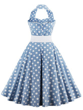 Load image into Gallery viewer, Off the Shoulder High Waist 1950 Dress