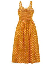 Load image into Gallery viewer, Polka Dots  Maxi Dress Vintage Dress For Women With Pockets