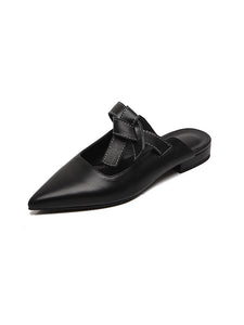 Women's Clogs & Mules Flat Heel Leather Shoes