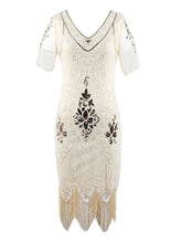 Load image into Gallery viewer, Flapper 1920S Fringed Gatsby Dress