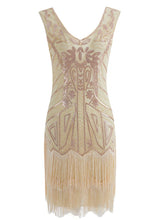 Load image into Gallery viewer, 5Color 1920S Sequined Fringe Gatsby Flapper Dress