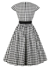 Load image into Gallery viewer, 1950s Plaid With Belt Vintage Dress