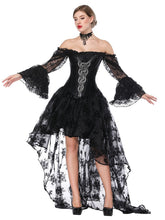 Load image into Gallery viewer, Gothic Costume Halloween Black Strapless Asymmetrical Skirt And Corset
