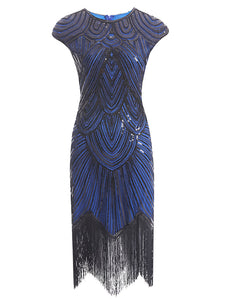3 Colors 1920s Sequined Flapper Dress