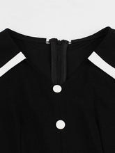 Load image into Gallery viewer, Black Hepburn's Sailor Vintage Dress