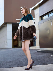 Faux Fur Long Coat Women Winter Coat