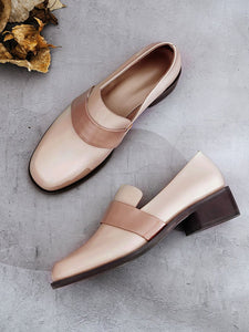 Women's Oxfords Round Toe Cowhide Vintage Shoes