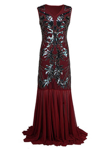 1920S Sequin Gatsby Maxi Dress