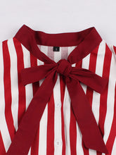 Load image into Gallery viewer, Red Stripe With Pockets 50S Dress