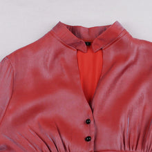Load image into Gallery viewer, Red Long Sleeve 50s Dress