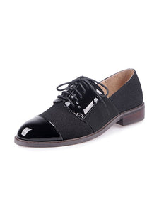 Women's Oxfords Cap Toe Cowhide Leather Vintage Shoes