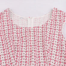Load image into Gallery viewer, Cotton With Pocket Crewneck Floral 50S Pink Dress