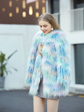 Load image into Gallery viewer, Faux Fur Coat Women Long Sleeve Ice-cream Winter Coat