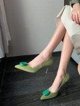 Load image into Gallery viewer, Women's Heels Stiletto Heel Pointed Toe Sheep Skin Leather Shoes