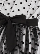 Load image into Gallery viewer,  O Neck Polka Dots 1950S A line Vintage Dresses