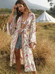 Boho Dress Bikini Cover Up Long Kimono Beach Dress For Women