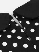 Load image into Gallery viewer, 1950S Polka Dots Peter Pan Collar Vintage Swing Dress