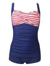 Load image into Gallery viewer, One Piece Dark Blue The Old Glory Design Swimsuit