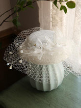 Load image into Gallery viewer, Butterfly Flower Tulle Pearl Vintage Lace 1950S Hat