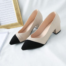 Load image into Gallery viewer, Women's Heel Chunky Heel Pointed Toe TU Leather