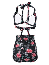 Load image into Gallery viewer,  Floral Print Retro Style Bikinis swimsuits