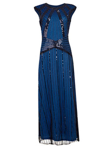 4 Color 1920S Sequined Fringe Flapper Dress