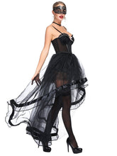 Load image into Gallery viewer, Halloween Costume Gothic Black Vintage Corset  High Low Skirt For Women