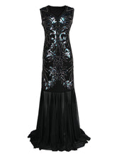 Load image into Gallery viewer, 1920S Sequin Gatsby Maxi Dress
