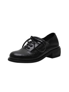 Women's Oxfords Round Toe Sheepskin Vintage Shoes