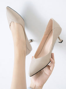 Stiletto Heel Pointed Toe Vintage Shoes