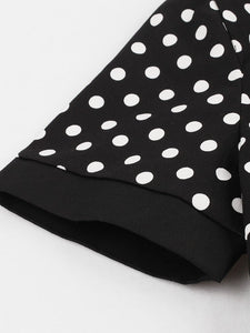1950S Polka Dots Peter Pan Collar Vintage Swing Dress