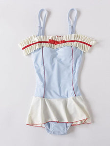 50S Ruffles Swimsuit With Adjustable Straps