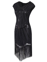Load image into Gallery viewer, 1920S Sequin Fringed Gatsby Dress