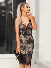 Load image into Gallery viewer,   Spaghetti Strap Lace Vintage Party Dress