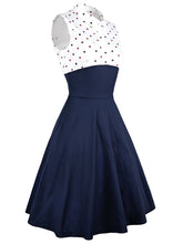 Load image into Gallery viewer, Polka dot Printed party 2 Piece retro vintage Dress Set