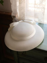 Load image into Gallery viewer, Big Bow Satin Vintage Audrey Hepburn Same Style 1950S Hat