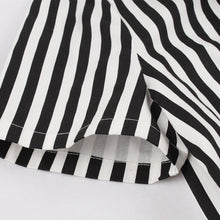 Load image into Gallery viewer, With Pocket Bow Stripe Black 50S Dress