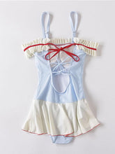 Load image into Gallery viewer, 50S Ruffles Swimsuit With Adjustable Straps