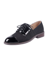 Load image into Gallery viewer, Women's Oxfords Cap Toe Cowhide Leather Vintage Shoes