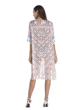 Load image into Gallery viewer, Women's National Printed Long Kimono Cardigan Beach Tops Cover Ups