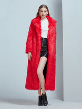 Load image into Gallery viewer, Faux Fur Coat Women V Neck Long Sleeve Maxi Winter Coat