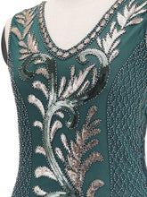 Load image into Gallery viewer, 6 Color 1920S Sequined Fringe Peacock Flapper Dress
