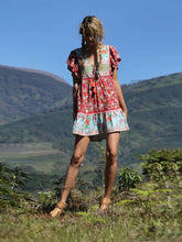 Load image into Gallery viewer, Bohemian Floral Printed Midi Dress Women's Boho Dress V Neck