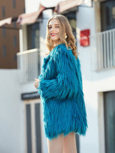 Load image into Gallery viewer, Faux Fur Coat Women Long Sleeve Oversized Winter Coat