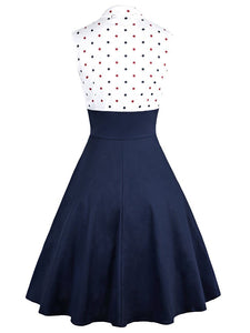 Polka dot Printed party 2 Piece retro vintage Dress Set