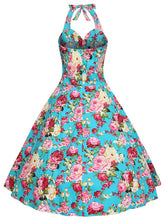 Load image into Gallery viewer, Sweet Floral Cotton 50s Flapper Dress