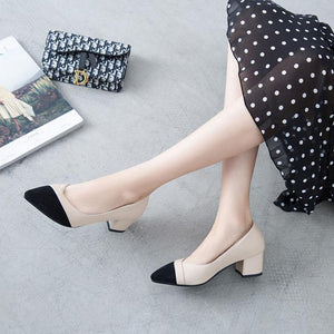 Women's Heel Chunky Heel Pointed Toe TU Leather
