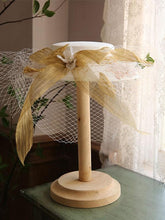 Load image into Gallery viewer, Flower Embroidery Bow Rhinestone Tulle Decoration 1950S Hat