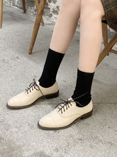 Load image into Gallery viewer, Women's Oxfords Round Toe Cowhide Leather Vintage Shoes