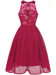Lace Round Collar 50s 60s Dress